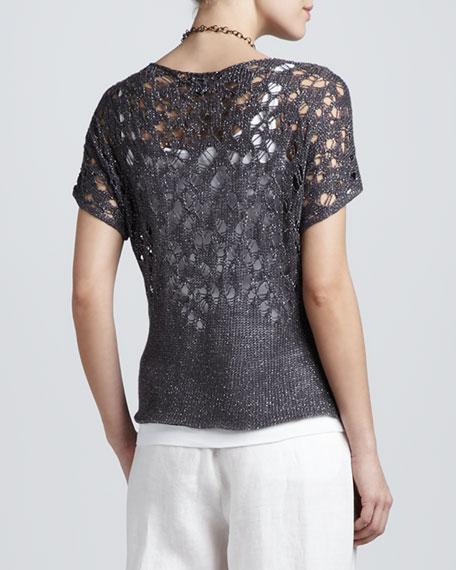 Sparkle Linen Lace Top