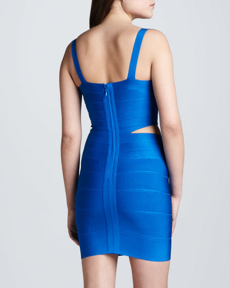 Cutout-Waist Bandage Dress