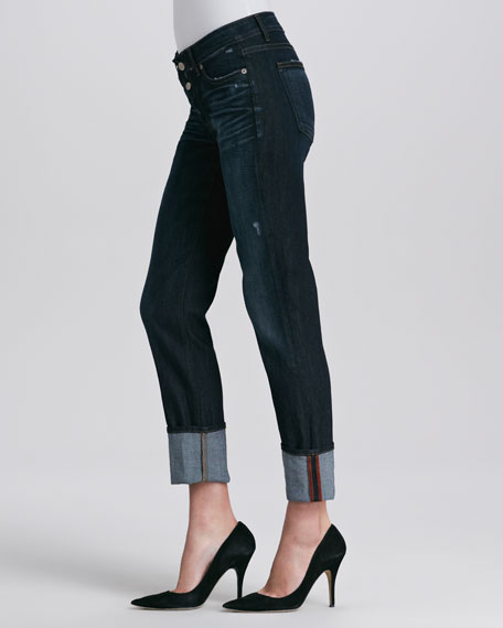 Jackson Button-Up Skinny Jeans