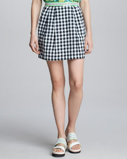 Nanette Lepore Love Parade Gingham Skirt