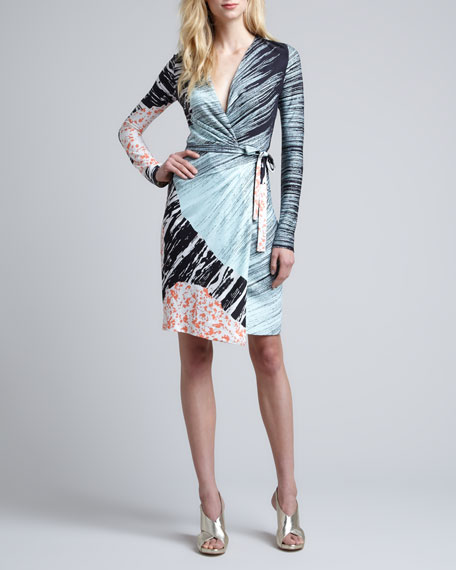 Callista Long-Sleeve Wrap Dress