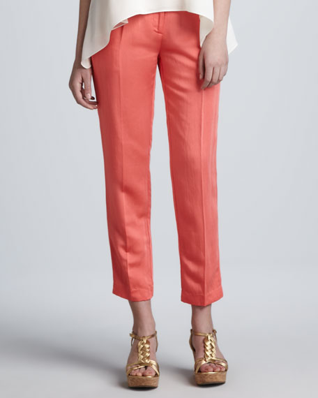 Nicole Cropped Pants, Coral