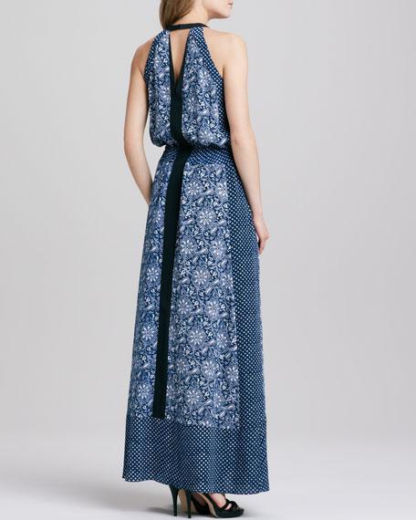 Star Paisley-Print Maxi Dress