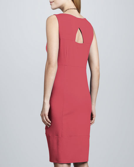 Jersey Knee-Length Oval Dress
