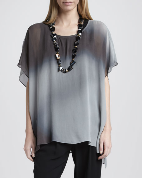 Watercolor Sheer Tunic, Petite