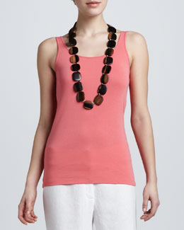 Eileen Fisher Organic-Cotton Long Tank Top