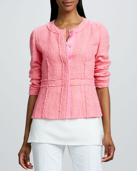 Margaret Tweed Snap-Front Jacket