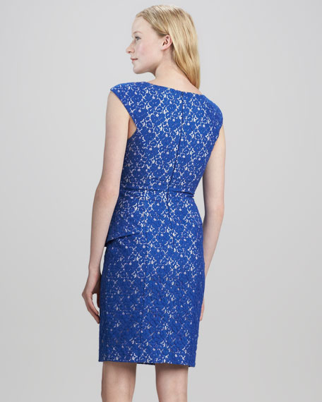 Lace Asymmetric-Peplum Dress