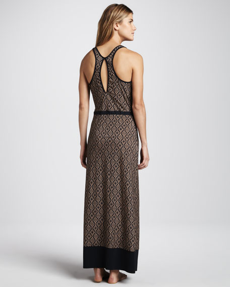 Molly Crochet-Print Maxi Dress