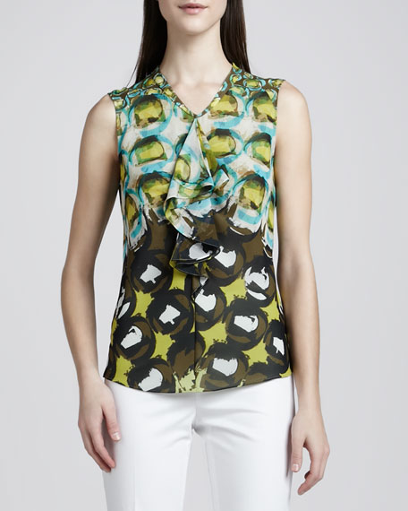 Rosa Silk Printed Blouse