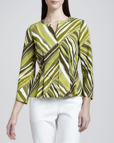 Auzzelle Printed Cotton Jacket