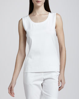 Lafayette 148 New York Basic Cotton Tank