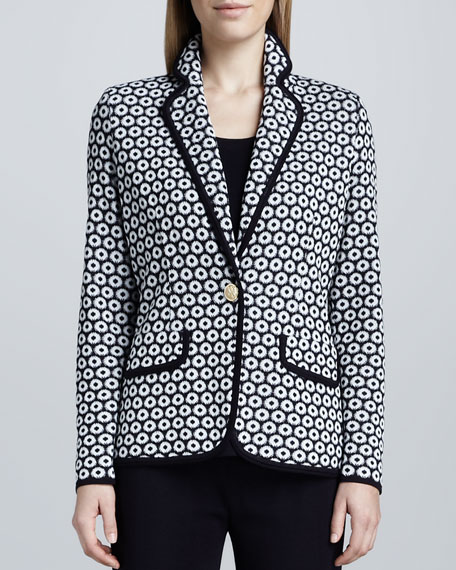 Camille Geometric Knit Jacket