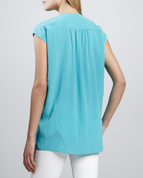 Paulette Silk Pocket Blouse