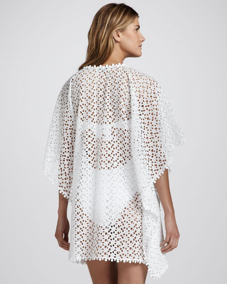 Short Crochet Coverup Caftan