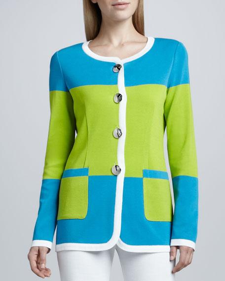 Felicia Knit Colorblock Jacket, Women's