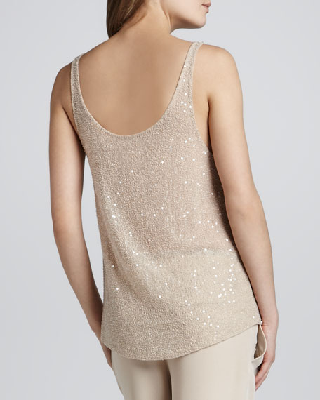 Embellished Silk Tank