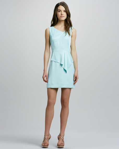 Charlotte Drape-Peplum Dress