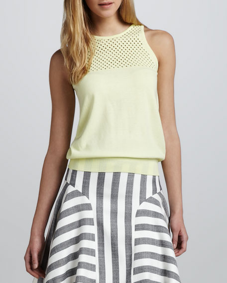 Alana Netted Knit Top