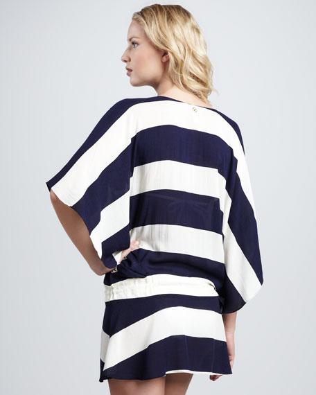 Malawi Vintage-Stripe Coverup Tunic