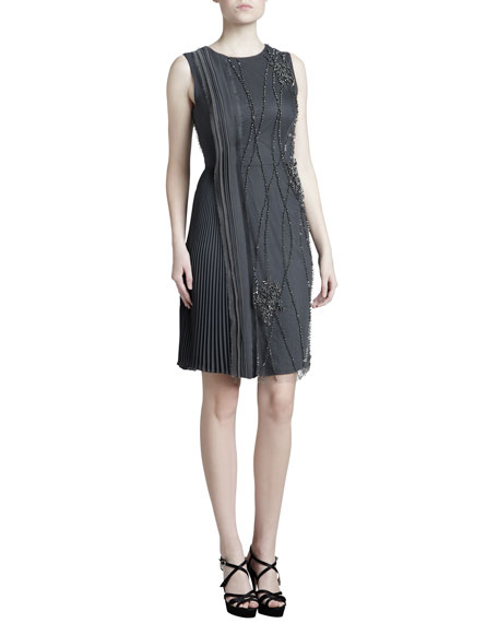 Embroidered Georgette Dress