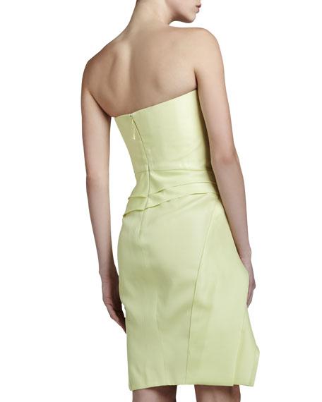Layered Strapless Gazar Dress