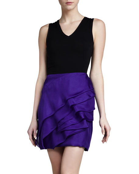 Sculpted Organza Miniskirt, Iris