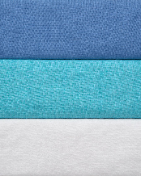 Rolled-Sleeve Linen Top