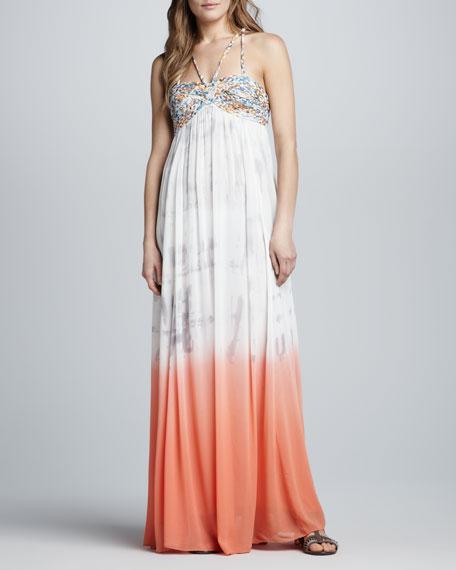 Snake Goddess Maxi Dress
