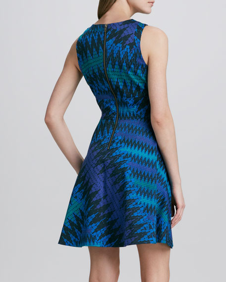 Zigzag-Print Knit Dress