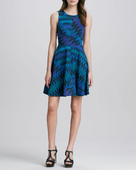 Zigzag-Print Knit Dress