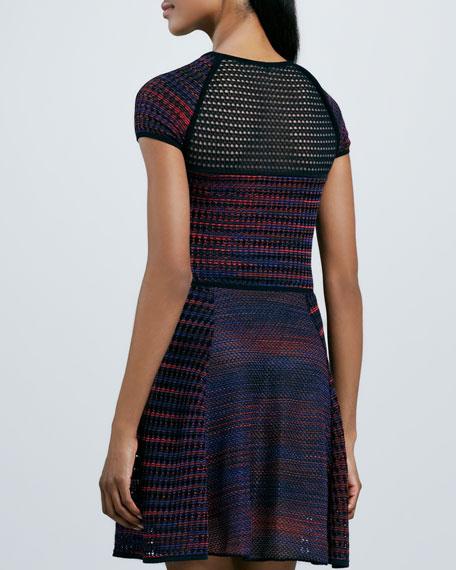 Space Dye & Mesh Dress
