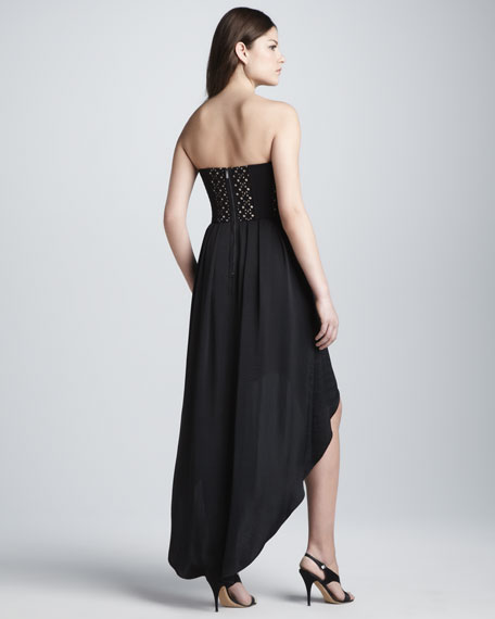 Strapless High-Low Dress