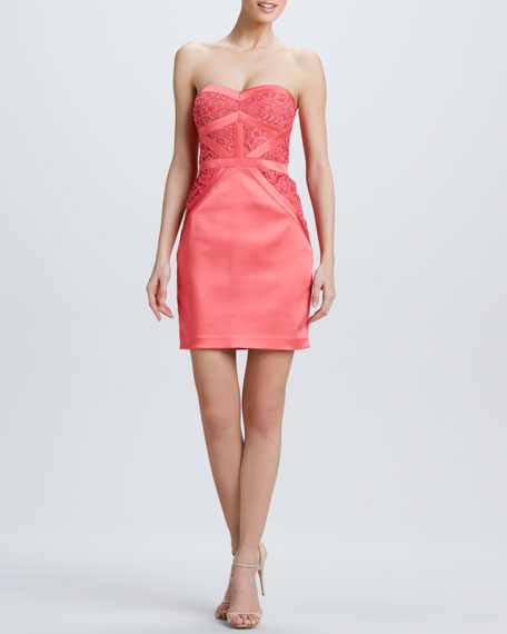 Strapless Pieced Cocktail Dress