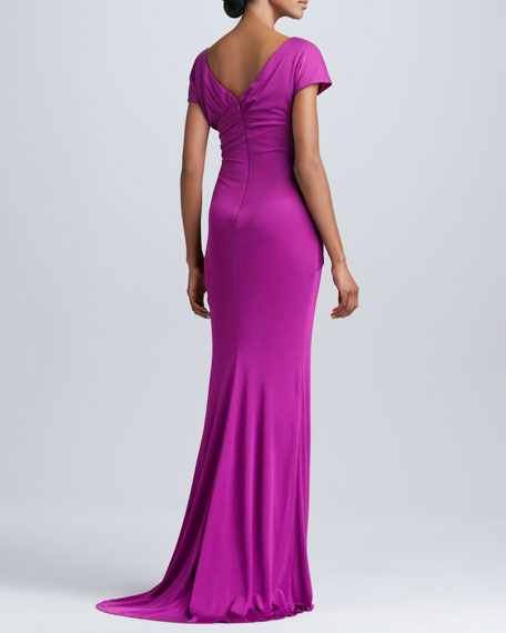 Knot-Front Fitted Gown