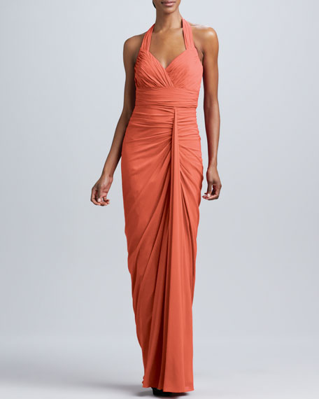 Halter Gown with Ruching