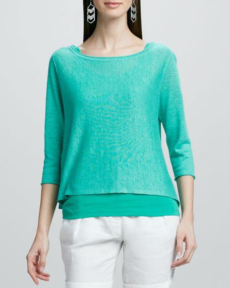 Lightweight Linen Pullover Top