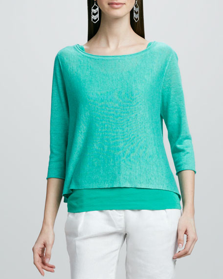 Lightweight Linen Pullover Top, Women's