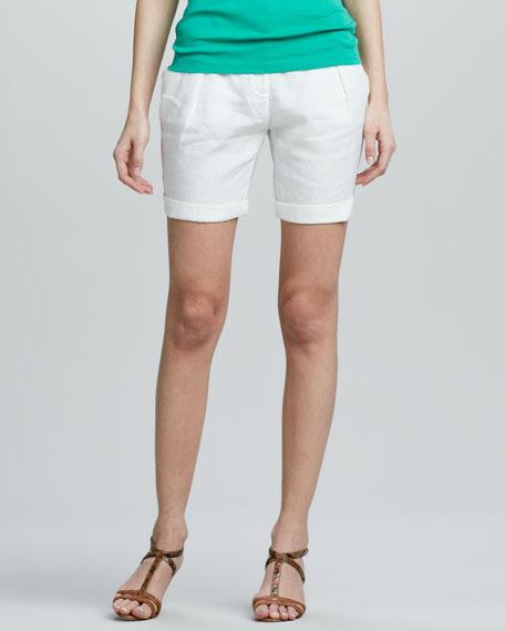 Organic Linen City Shorts