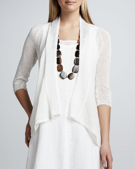 High-Low Flutter Cardigan