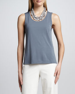 Eileen Fisher Silk Jersey Tank