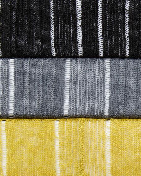 Silk-Linen Angled Cardigan