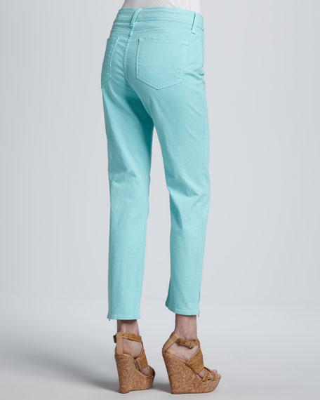 Lisa Zip-Ankle Jeans, Petite