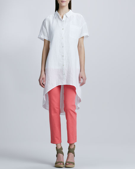 Handkerchief Linen Layering Dress, Petite