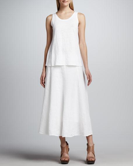 Handkerchief Linen Cinchable Long Skirt
