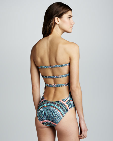 Strappy-Back One-Piece Swimsuit