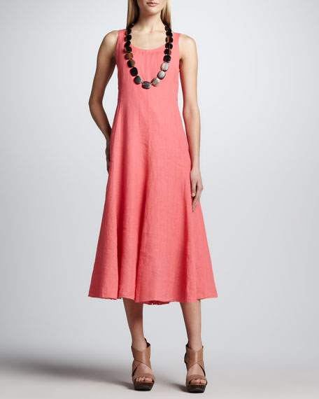 Handkerchief Long Cinchable Linen Dress