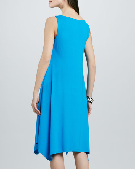 Washable Cowl-Neck Jersey Dress, Petite
