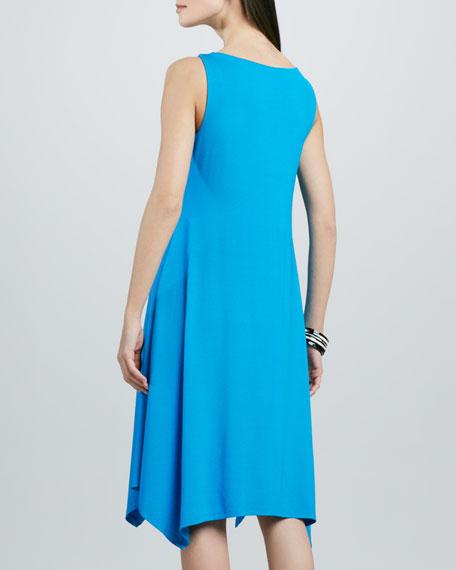 Cowl-Neck Washable Jersey Dress, Women's