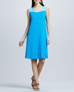 Eileen Fisher Colorblock Jersey Dress